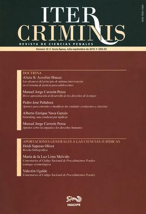 REVISTA ITER CRIMINIS SUSCRIPCION ANUAL 2017