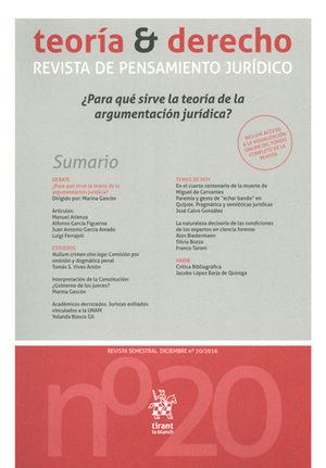 TEORÍA Y DERECHO REVISTA DE PENSAMIENTO JURÍDICO 20/2016