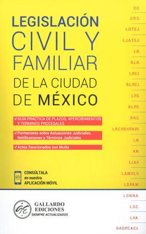LEGISLACIÓN CIVIL Y FAMILIAR DE LA CIUDAD DE MÉXICO 2018