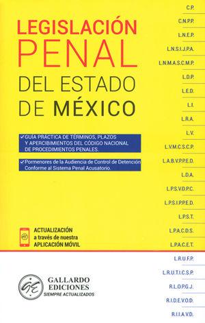 LEGISLACIÓN PENAL DEL ESTADO DE MÉXICO 2018