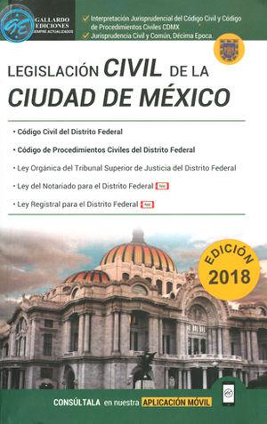LEGISLACIÓN CIVIL DE LA CIUDAD DE MÉXICO 2018