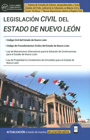 LEGISLACIÓN CIVIL DEL ESTADO DE NUEVO LEÓN. 2018