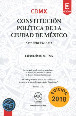 CONSTITUCIÓN POLÍTICA DE LA CIUDAD DE MÉXICO 2018