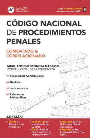 CÓDIGO NACIONAL DE PROCEDIMIENTOS PENALES. 2019