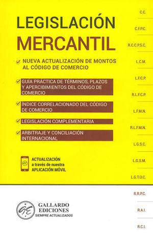 LEGISLACIÓN MERCANTIL. 2019