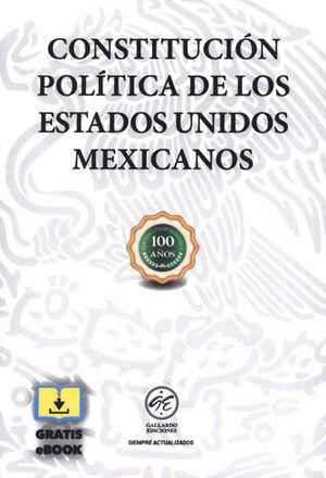 CONSTITUCIÓN POLÍTICA DE LOS ESTADOS UNIDOS MEXICANOS 2019. GRATIS EBOOK