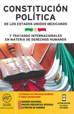 CONSTITUCIÓN POLÍTICA DE LOS ESTADOS UNIDOS MEXICANOS Y TRATADOS INTERNACIONALES EN MATERIA DE D. H.