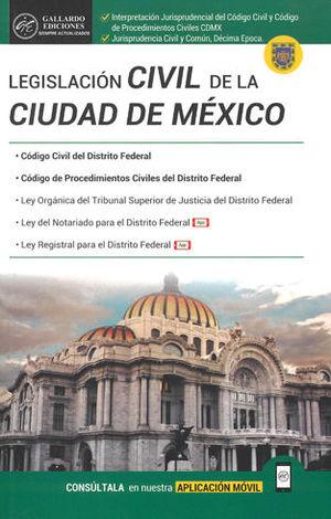 LEGISLACIÓN CIVIL DE LA CIUDAD DE MÉXICO. 2019