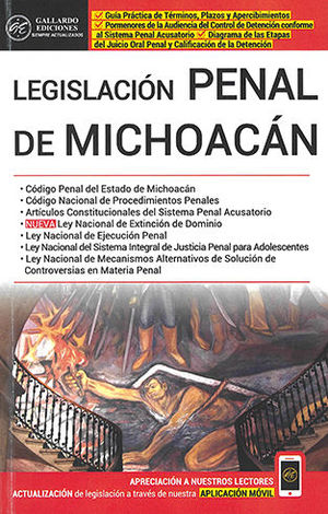 LEGISLACIÓN PENAL DE MICHOACÁN 2020
