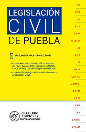 LEGISLACIÓN CIVIL DE PUEBLA (2020)