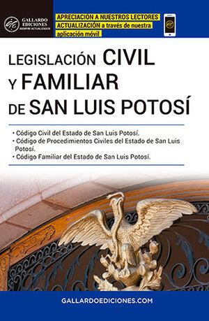 LEGISLACIÓN CIVIL Y FAMILIAR DE SAN LUIS POTOSÍ (2021)