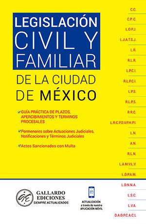 LEGISLACIÓN CIVIL Y FAMILIAR DE LA CIUDAD DE MÉXICO (2020)