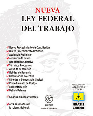 NUEVA LEY FEDERAL DEL TRABAJO - 6ª ED. 2021 - BOLSILLO + EBOOK