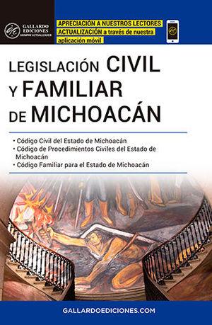 LEGISLACIÓN CIVIL Y FAMILIAR DE MICHOACÁN 2020