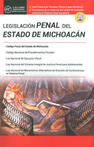 LEGISLACIÓN PENAL DEL ESTADO DE MICHOACÁN
