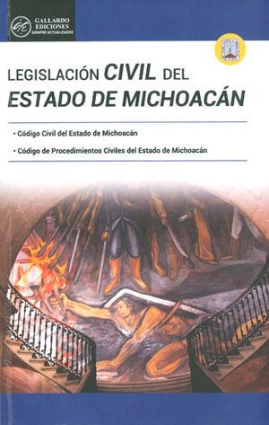 LEGISLACIÓN CIVIL DEL ESTADO DE MICHOACAN