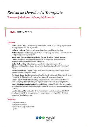 REVISTA DE DERECHO DEL TRANSPORTE. RDT. 2013. Nº 12