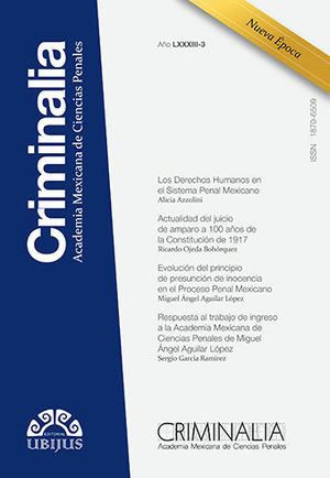 CRIMINALIA AÑO LXXXIII - 03 REVISTA DE LA ACADEMIA MEXICANA DE CIENCIAS PENALES