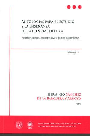 ANTOLOGÍAS PARA EL ESTUDIO Y LA ENSEÑANZA DE LAS CIENCIAS POLÍTICAS