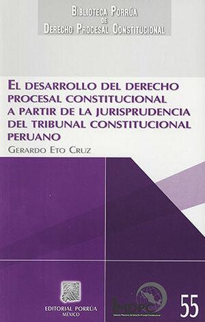DESARROLLO DEL DERECHO PROCESAL CONSTITUCIONAL A PARTIR DE LA JURISPRUDENCIA DEL TRIBUNAL CONSTITUCIONAL PERUANO, EL