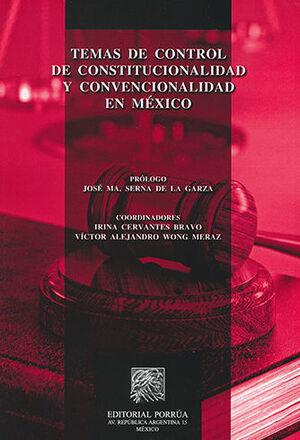 TEMAS DE CONTROL DE CONSTITUCIONALIDAD Y CONVENCIONALIDAD