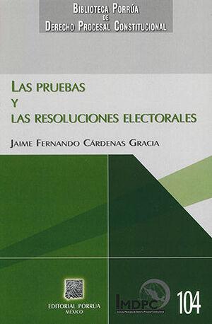 PRUEBAS Y LAS RESOLUCIONES ELECTORALES
