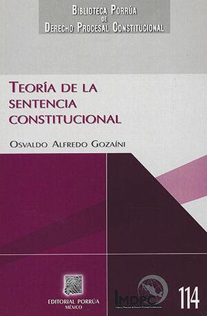 TEORÍA DE LA SENTENCIA CONSTITUCIONAL