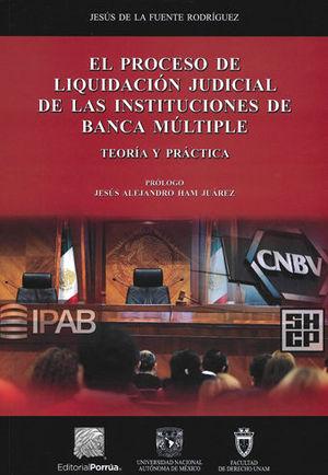 PROCESO DE LIQUIDACIÓN JUDICIAL DE LAS INSTITUCIONES DE BANCA MÚLTIPLE