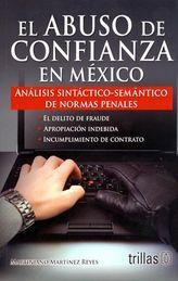 ABUSO DE CONFIANZA EN MEXICO EL