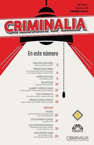 CRIMINALIA AÑO LXXXVI - 03 REVISTA DE LA ACADEMIA MEXICANA DE CIENCIAS PENALES