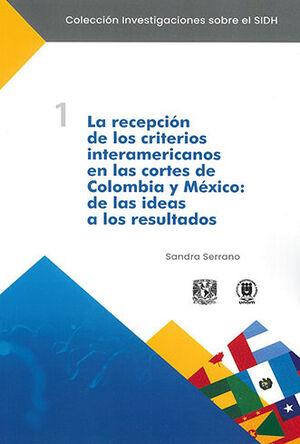 RECEPCIÓN DE LOS CRITERIOS INTERAMERICANOS EN LAS CORTE DE COLOMBIA Y MÉXICO, LA