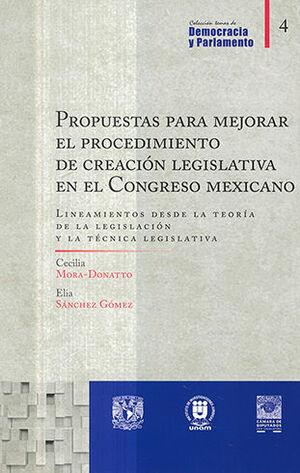 PROPUESTAS PARA MEJORAR EL PROCEDIMIENTO DE CREACIÓN LEGISLATIVA EN EL CONGRESO MEXICANO