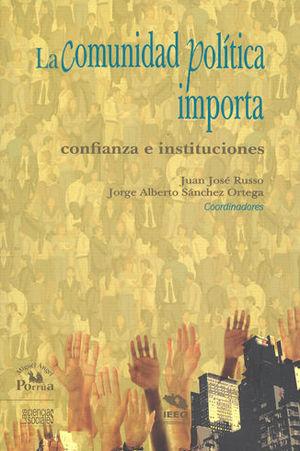 COMUNIDAD POLÍTICA IMPORTA: CONFIANZA E INSTITUCIONES, LA