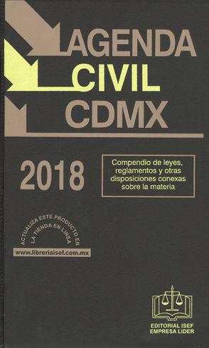 AGENDA CIVIL CDMX. 2018