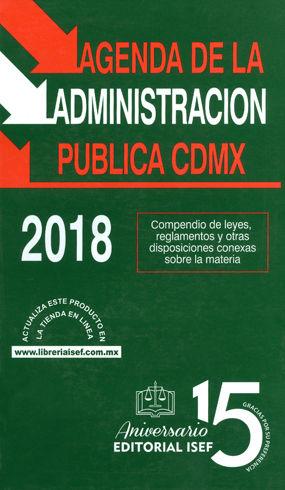 AGENDA DE LA ADMINISTRACIÓN PÚBLICA CDMX. 2018