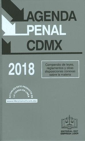 AGENDA PENAL CDMX. 2018