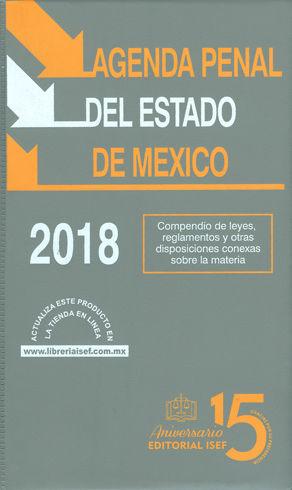 AGENDA PENAL DEL ESTADO DE MÉXICO. 2018