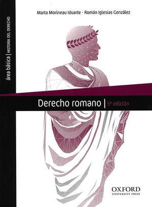 DERECHO ROMANO. (QUINTA EDICIÓN)