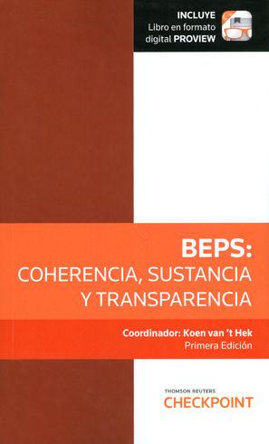 BEPS: COHERENCIA, SUSTANCIA Y TRANSPERENCIA