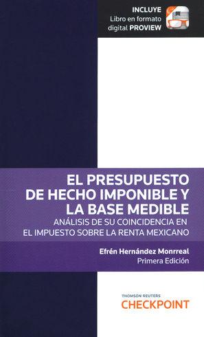 PRESUPUESTO DE HECHO IMPONIBLE Y LA BASE MEDIBLE, EL