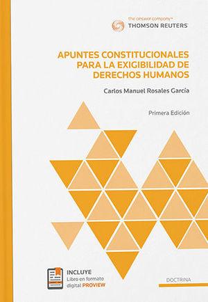 APUNTES CONSTITUCIONALES PARA LA EXIGIBILIDAD DE DERECHOS HUMANOS