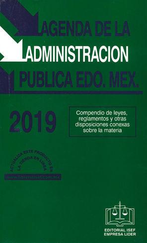 AGENDA DE LA ADMINISTRACIÓN PÚBLICA EDO. MEX. 2019