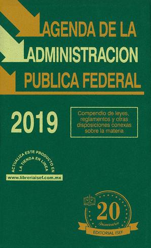 AGENDA DE LA ADMINISTRACIÓN PÚBLICA FEDERAL 2019