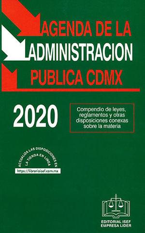 AGENDA DE LA ADMINISTRACIÓN PÚBLICA CDMX 2020