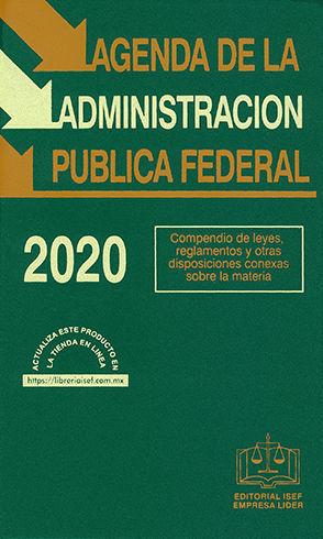 AGENDA DE LA ADMINISTRACIÓN PÚBLICA FEDERAL 2020