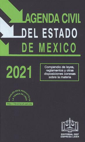 AGENDA CIVIL DEL ESTADO DE MÉXICO - 39ª ED. 2021