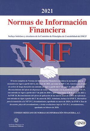 NIF - NORMAS DE INFORMACIÓN FINANCIERA (PROFESIONAL IMCP) 2021