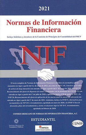 NIF - NORMAS DE INFORMACIÓN FINANCIERA (ESTUDIANTIL) 2021