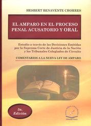 AMPARO EN EL PROCESO PENAL ACUSATORIO Y ORAL, EL