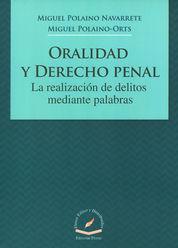 ORALIDAD Y DERECHO PENAL